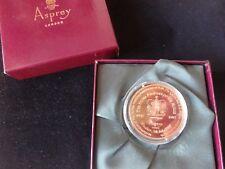 1997 B/U GOLD PLATED COIN MEDAL + BOX GOLDEN WEDDING ROYAL PAGEANT HORSE ASPREY