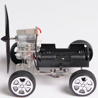 DIY Wind Power Car Science Educational Learning Toys Craft Car Assembled Kit Toy