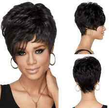 Dark Brown Fashion New Cosplay Party Women Wigs Short  Curly Costume Wavy Wig