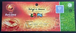 Portugal vs.Greece Match Ticket - CRISTIANO RONALDO FIRST INTERNACIONAL GOAL