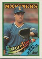 Mike Campbell Future Stars 1988 Topps Baseball Card #246 Seattle Mariners