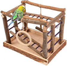 Bird Playground Playpen Pet Wooden Activity Center Cockatiel Parakeet Toys Wood