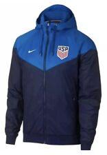 Nike Men's USA Soccer NSW Windrunner Hooded Jacket 891338-412 Blue Sz M NWT