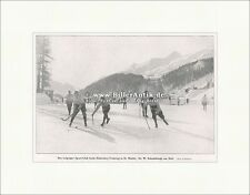 Leipziger Sport-Club beim Eishockey-Training Winter St. Moritz F Original 01139