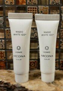 Lot 2 ARCONA Magic White Ice Moisturizer Deluxe Sample Size- 10ml ea- 20ml Total