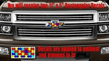 Autism Awareness Emblem OVERLAY Decals Stickers for Chevy Bowtie Emblem- 2 U CUT