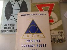 Aerobatic Club Stunt Pilot Vintage Lot Arial Acrobatics Trick Contest 1969