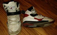 Nike Air Jordan Flight 45 PS Rainbow White Red Size 11C Preschool Velcro Laces