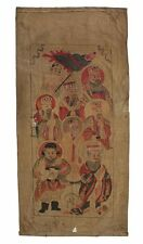 Large antique CHINA scroll painting on canvas