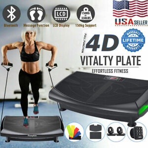 3 Motors 440W  Whole Body Vibration Platform Plate Fitness Machine with Bands US
