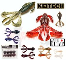 "KEITECH Fishing Lures CRAZY FLAPPER 2.8"" 4,4"" Scent Baits Drop Shot Jig Texas"