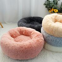 Soft Plush Dog Calming Bed Warm Round Dog Nest Sofa Cushion Cat Warm Bed Sleep