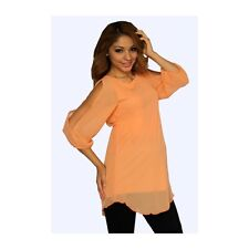 Sexy Fun Pastel Orange Split Sleeve Maternity Tunic Top, S, M, L or XL, USA