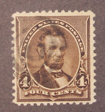 Scott 222 - 4 Cents Lincoln - Used - Nice Stamp - SCV - $4.75