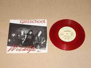 "Girlschool - Wildlife EP, 7"" single (red vinyl) UK 1982 (BRO 144) Ex-/Vg+ Rock"