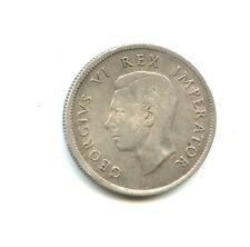 Afrique du Sud 2 shillings argent Georges VI 1943 n°E950
