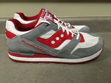 """Saucony """"Courageous"""" Floorlords White/Gray/Red Men's Size 12 Athletic Shoes"""