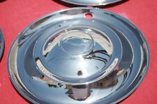 1942-48 CHEVY ORIGINAL ACCESSORY FULL DISK HUBCAPS  RESTORED SET ( 16 INCH )