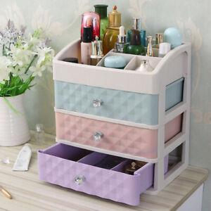 Desk Jewelry Box Large Drawer Makeup Cosmetic Organiser Vanity Tidy Storage Case