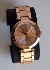 DKNY Damen Armbanduhr Uhr Damenuhr Rose Gold NY2287 Kristall