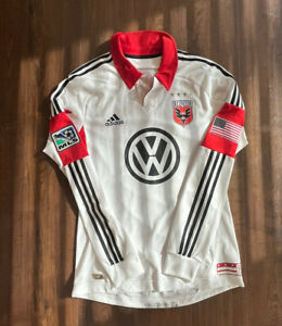 Adidas DC United Away Soccer Jersey Adult Medium Long Sleeve MLS Authentic Mens
