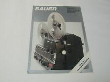 BAUER projecteurs 8 S8 mm T240 T280 T430 T450 et série 500 présentation cinéma