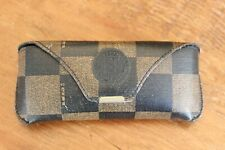 Fendi Roma Italy Occhiali Eyeglass Sunglass Case Vintage Brown Stripe Snap