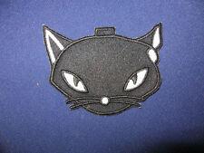 Iron On Patch - Black/White Cat Head