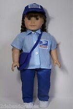 POSTAL Mailman USPS Work Costume Uniform Doll Clothes For 18 American Girl (Debs