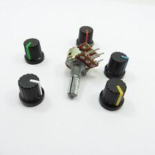 Potenziometro STEREO LINEARE B /& 19mm tappo in plastica Ohm Tono Volume Controllo PENTOLA
