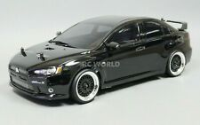 Custom RC 1/10 Drift MITSUBISHI LANCER EVO X AWD Belt CAR BLACK RTR