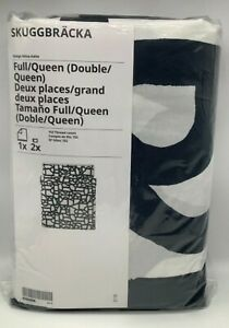 New Ikea SKUGGBRACKA Full/Double/Queen Duvet cover and pillowcases white, black