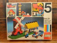 Lego Basic 5 Set Complete with Box 5-3 Vintage Retro 1970's