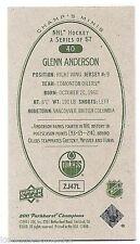 11/12 PARKHURST CHAMPIONS CHAMP'S MINI GREEN BACK PARALLEL Glenn Anderson #40
