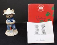 "New Original Box 1999 B&G Copenhagen Porcelain Teddy Bear Col Victor 4"" Figurine"
