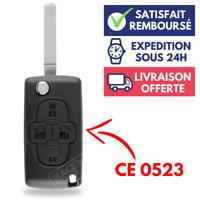Boitier de Télécommande Plip Coque pour Clé Peugeot 1007 | 807 | 4 Boutons ⭐⭐⭐⭐⭐