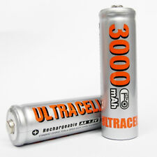 2 Ni-MH AA Size 3000mAh 1.2V rechargeable battery Silver UltraCell