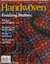Handwoven magazine jan/feb 2001: throw, dishtowels, vest, pillow, scarves jumper