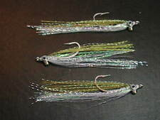 Bay Anchovy - Polarflash Clouser Minnows - saltwater striper dorado rooster fly