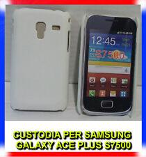 Pellicola + custodia back cover BIANCO per Samsung Galaxy Ace Plus S7500 (H8)