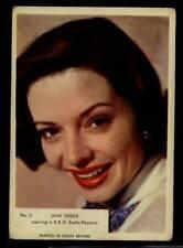 (Gg260-348) Kane, Film Stars, Grey Plain Back, #11 Jane Greer 1958 G-VG