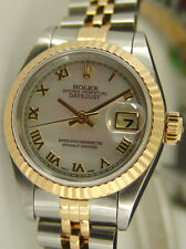 ROLEX Ladies 18kt Gold & SS DateJust Mother Of Pearl Roman Dial 69173 SANT BLANC