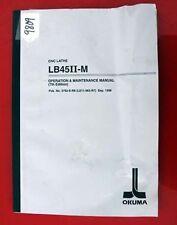 Okuma Lb45Ii-M Cnc Lathe Oper & Maint Manual 3792-E-R6 (Le11-063-R7) Inv 9809