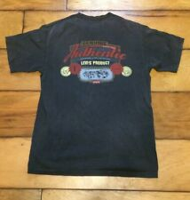 Vintage 90s Genuine Authentic Levis T Shirt Medium Gray Made In Usa Double Sided
