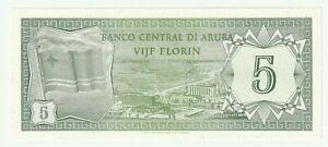 Aruba 1986 5 Florin P.1 UNC low serial 0006~