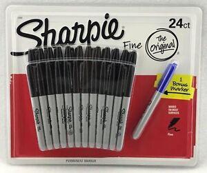 NEW Bulk Pack 24 / 48 / 72 Bulk Pack Sharpie Pen Fine Tip Black Permanent Marker