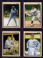 SET OF 4 SHOELESS JOE JACKSON CAREER: ROOKIE, TRADED, BANNED, LIFE GOES ON