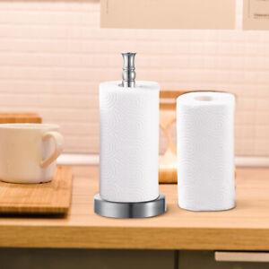 Paper Towel Holder Paper Towel Dispenser Standing Countertop Kitchen Steel