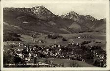 Siegsdorf Oberbbayern s/w AK ~1940 gelaufen Panorama mit Hochfelln und Hochgern