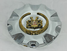 SAGE VOGUE TYRE CADILLAC WHEEL RIM CHROME GOLD WREATH CREST CENTER CAP 99-1101
